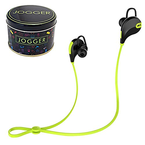 jogger QY7 Bluetooth 4.1 Stereo Sweat-Proof Sports Hi-Fi Sound Headphones with Extra Bass (Green)