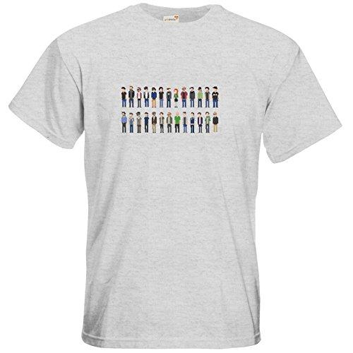 getshirts - Rocket Beans Classic - T-Shirt - Retro Collection - Pixelbohnen Ash