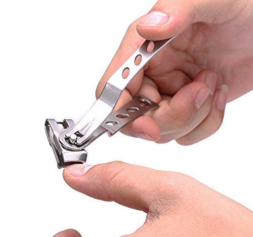 Keiby Citom Pince à ongles en acier inoxydable avec tête rotative à 360 degrés - vos ongles et orteils Cutter Taille et de petites Tailles