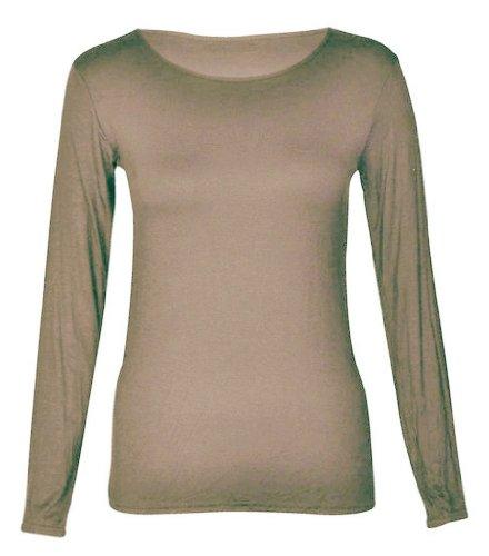 Swagg Fashions -  Maglia a manica lunga  - Maniche lunghe  - Donna Caffè