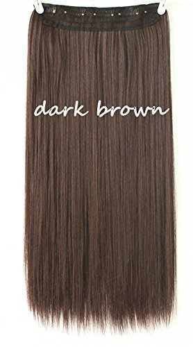One piece clip in hair extensions dark brown amazon beauty pmusecretfo Choice Image