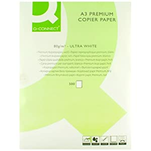 Q-Connect Premium Copier/Laser Paper A3 80gsm White Ream
