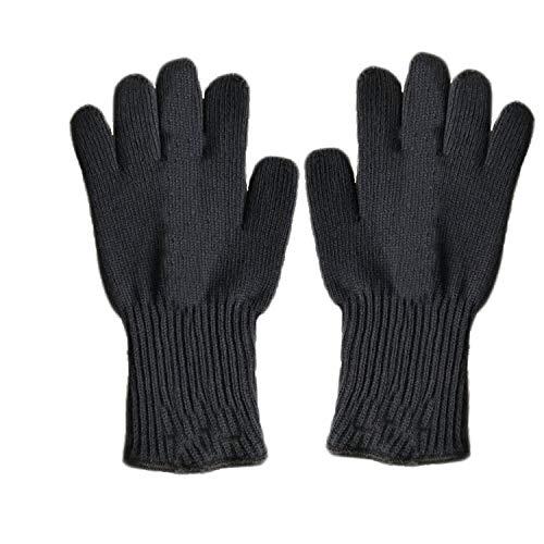 QXTT Hohe Temperaturbeständigkeit Handschuhe Verbrühungshemmend Gestrickte Elektrische Ofenhandschuhe Für Herren Schwarz -