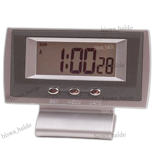 Digital LCD Weather Hygrometer Thermometer Watch Alarm Wall Car Clock Table Desk - 14  available at amazon for Rs.299