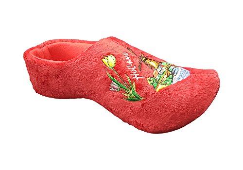Zapatillas mujer holandeses rojo 39-41