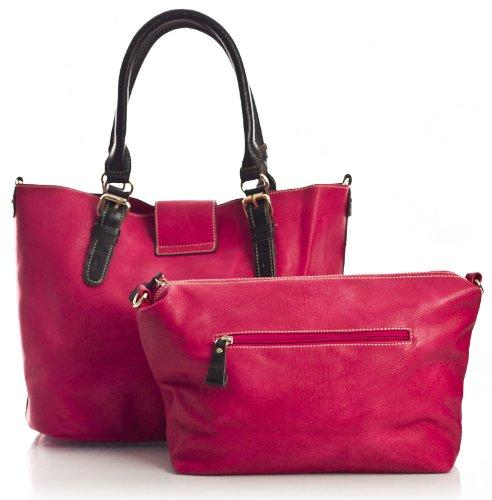 Big Handbag Shop, Borsa a spalla donna Arancione - Arancione