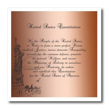 3drose HT _ 79100_ 3WE THE PEOPLE Freiheitsstatue US Verfassung Vintage art-iron auf Wärmeübertragung für Material, 10von 25,4cm, Weiß