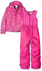 Columbia Sportswear Kids Buga Set Ski Jacket, Cactus Pink Texture Print, Small