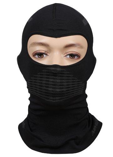 Nordcamp Sturmhaube Gesichtshaube Skihaube Skimaske Kopfhaube Thermoaktiv Atmungsaktiv Skiunterwäsche Motorradunterwäsche - Ski - Motorrad - schwarz