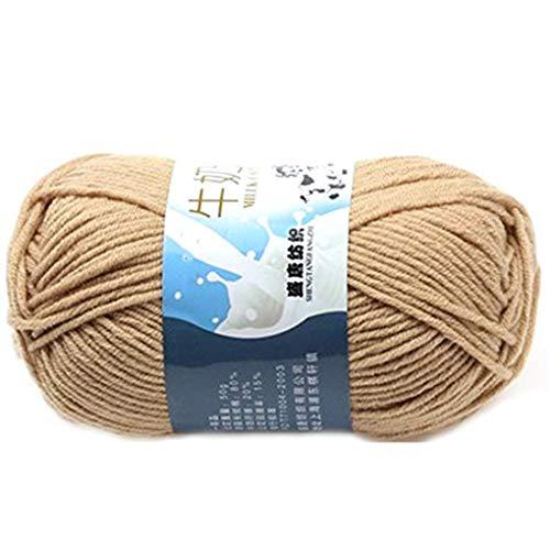 Plzlm Multi Color Warm DIY Milch Baumwollgarn Baby-Pullover Garn Knitting Kinder Handgestrickte Strickdecke Häkelgarn -