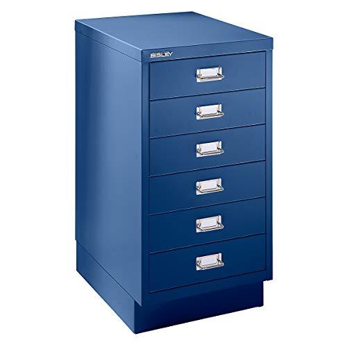 Bisley Schubladenschrank - 6 Schubladen für Format DIN A3 - kobaltblau | 112SPM-AP9 - Schubladenschrank Wandschrank Wandschränke Büroschrank
