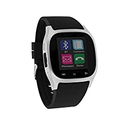 Smart Watch I-Touch Screen Bluetooth with Pedometer Analysis Sleep Monitoring for Samsung Galaxy Android Apple iPhone iOS LG Google Nexus Smartphone (Black/Silver)