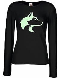 lepni.me Camisetas de Manga Larga para Mujer La Llamada del Lobo Salvaje - Gráfico