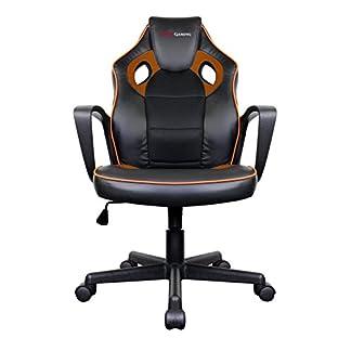 Mars Gaming MGC0BO Silla Gaming Profesional, Poliuretano, Naranja, 61.5x55x104 cm