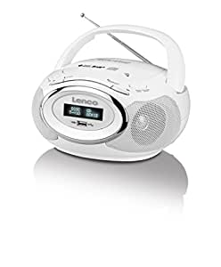 Lenco SCD-99 DAB+ - lecteurs/enregistreurs CD (MP3, WMA, DAB+, FM, PLL, CD audio, 3,5 mm, LR14/UM-2/C, Blanc)