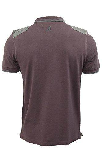 Kangol - Herren Poloshirt Pique 'Winch' T-Shirts Hahnentritt Rand Doppelt Schräger Kragen Winch (Port)