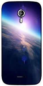 Snoogg sunrise from space Designer Protective Back Case Cover For Micromax A117
