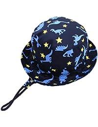 ef60ea74a Sombrero de Pescador de bebé niño sombrero de sol plegable de la protección  ULTRAVIOLETA del bebé del verano gorra transpirable de…