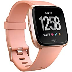 Fitbit Versa Health & Fitness Smartwatch with Heart Rate, Music & Swim Tracking, Peach