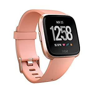 Fitbit Versa Health and Fitness Smartwatch, Peach, One Size