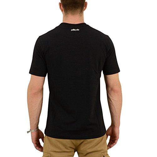 Pelle Pelle Männer T-Shirt Stick Up Icon Bandana schwarz - fällt normal aus, lang geschnitten Schwarz