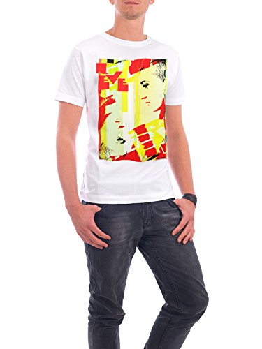 "Design T-Shirt Männer Continental Cotton ""Rêve"" - stylisches Shirt Abstrakt Fashion von Sandrine Pagnoux Weiß"