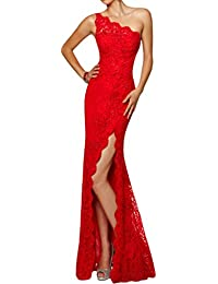 Abendkleid rot lang mit schlitz