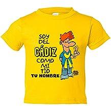 Camiseta niño soy del Cádiz como mi tio personalizable ...