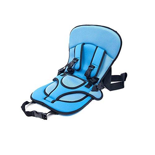 Kkmoon - seggiolino di sicurezza portatile per auto, adatto per neonati e bambini, dotato di cuscino foderato, cinture di sicurezza e tracolla