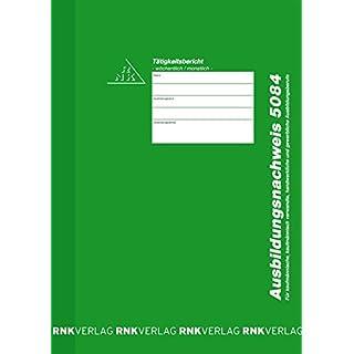 RNK Ausbildungsnachweis wöchentliche/monatliche Eintragung/5084 grün