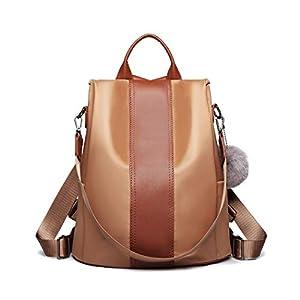 Miss Lulu Damen Rucksack Wasserdichte Nylon Schultaschen Anti-Diebstahl Tagesrucksack Schultertaschen für Unterwegs
