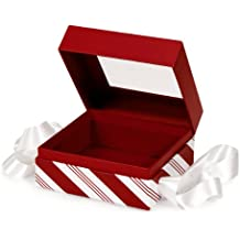 BULK Mostaza de hierbabuena MEDIUM BoxesSQUARE Box w / Ribbon 5-3 / 4x5-3 / 4x3 (1 unidad, 24 paquetes por unidad)