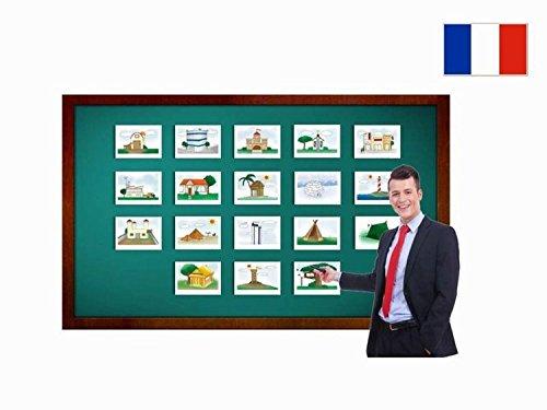 Yo-Yee Flashcards Bildkarten zur Sprachförderung in Französisch - Gebäude - Fiches de vocabulaire - Bâtiments