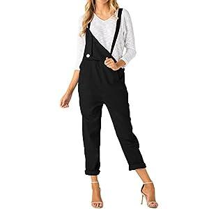 ACHIOOWA Damen Retro Latzhose Sommerhose Jumpsuits Playsuit Hose Overalls Trousers Pants