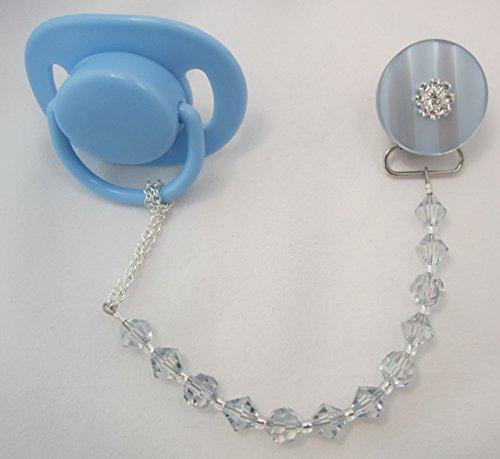 Crystal Dream Baby Blu Swarovski Ciuccio Clip