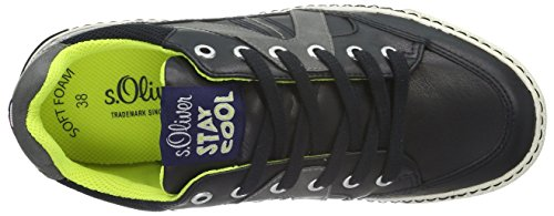 s.Oliver 43102, Baskets Basses Garçon Bleu (Navy Comb 891)