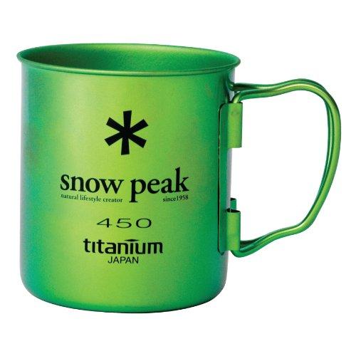 Snow Peak Ti Single Wand 450Tasse, MG-043GR-US, Grün - Ocean Green, Einheitsgröße Ocean Green