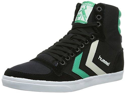 Hummel Sneaker Unisex Erwachsene – SLIMMER STADIL HIGH – Freizeitschuh div. Farben - Schuh hoch Leinen/Wildleder – Klassik Turnschuh Comfort Sohle