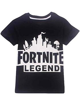 EMILYLE Unisex Fortnite Logo Game Icons Letras del Equipo Combat Commander Camiseta Impresa Fortnite PVP Pullover...