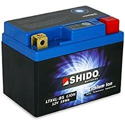 SHIDO LTX4L-BS LION -S- Batterie Moto Lithium Ion