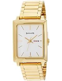 Sonata Analog White Dial Men's Watch -NK7078YM03