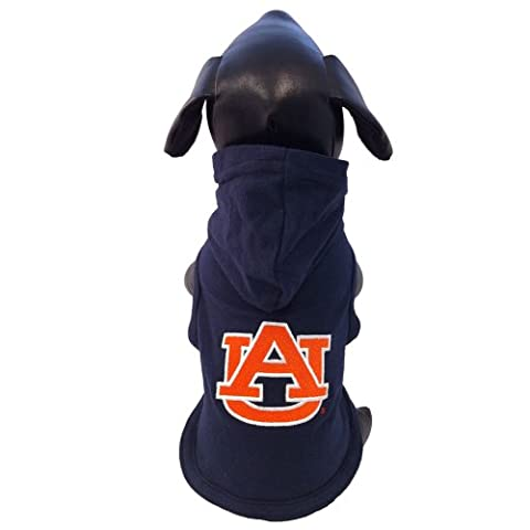 NCAA Auburn Tigers Collegiate Cotton Lycra Hooded Dog Shirt (Team