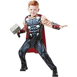 Rubies 640836M Marvel Avengers Thor Deluxe - Disfraz infantil para niños, talla M
