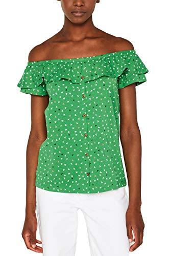 edc by ESPRIT Damen 049CC1K031 T-Shirt, Grün (Dark Green 300), Small (Herstellergröße: S)
