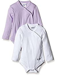 Twins Baby Girls Wrap-Around Bodysuit, Longsleeve, 2-Pack