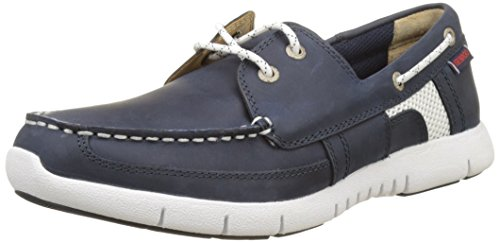Sebago Herren Kinsley Two Eye Bootschuhe Blau (Navy Leather)
