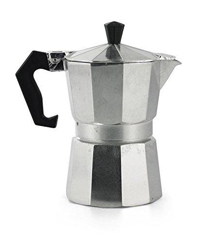 takestop® Espressokocher 2Tassen Becher Espresso Napoletano Aluminium Kaffee Coffee Bar