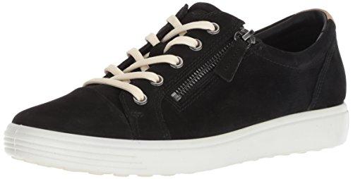 Soft-toe Side Zip (ECCO Damen 430853 Sneaker, Schwarz (Black 2001), 37 EU)