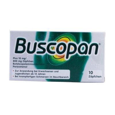 Buscopan plus Zäpfchen Reimport Pharma Gerke, 10 St. Zäpfchen