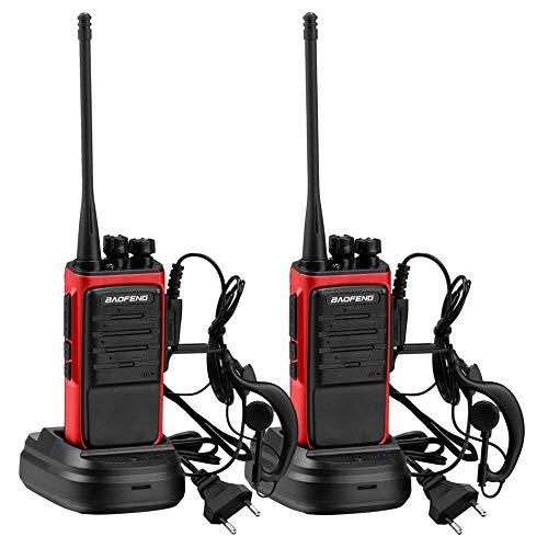 Veeti Walkie Talkie, BF-888S Funkgeräte Set mit Headset, 1500mAh Batterie, 400-470 MHz, 2-Wege-Radio 16 Kanäle Handfunkgerät Zwei-wege-handfunkgerät